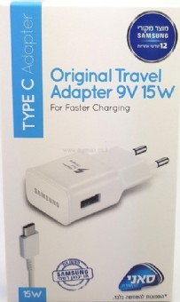 original travel adapter 9v 15w for type C