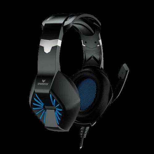 אוזניות גיימינג SPARKFOX A1 כחול / ירוק
