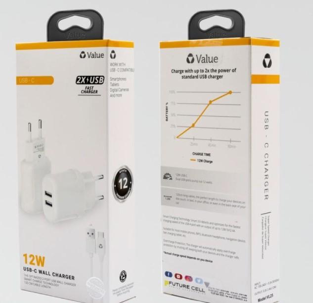 מטען קיר + כבל USB-C